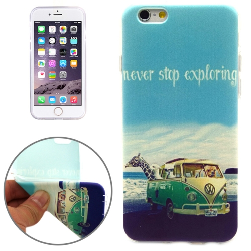 NEVER STOP EXPLORING Pattern Soft TPU Protective Case for iPhone 6