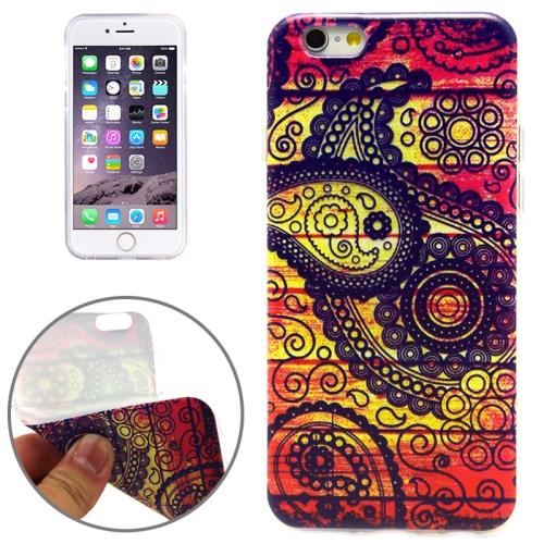 National Style Sea Wasp Pattern Soft TPU Protective Case for iPhone 6