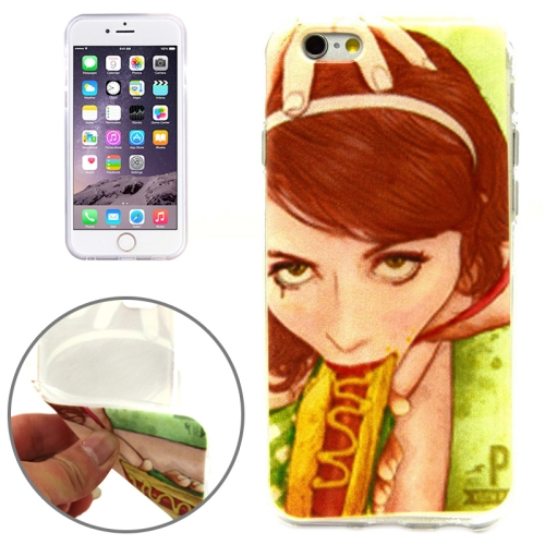 Beauty Sandwich Pattern Soft TPU Protective Case for iPhone 6