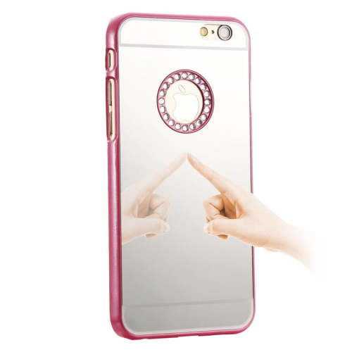 Mirror Design PC Hard Case for iPhone 6 with Rhinestone Embedded (Rose)