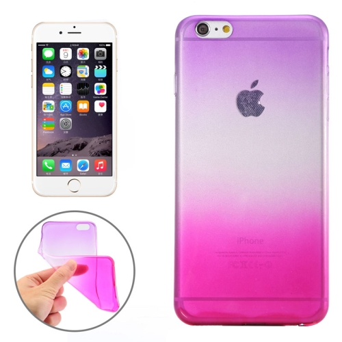 New Arrival Gradient Color Style Protective TPU Case for iPhone 6 (Purple)