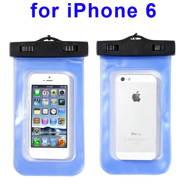 Universal PVC IPX8 Waterproof Bag for iPhone 6, and Other Smart Phones in Similar Sizes (Dark Blue)