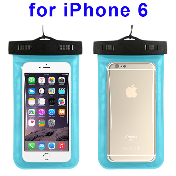 Universal PVC IPX8 Waterproof Bag for iPhone 6, and Other Smart Phones in Similar Sizes (Baby Blue)