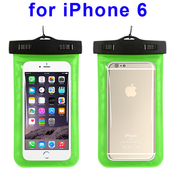 Universal PVC IPX8 Waterproof Bag for iPhone 6, and Other Smart Phones in Similar Sizes (Green)