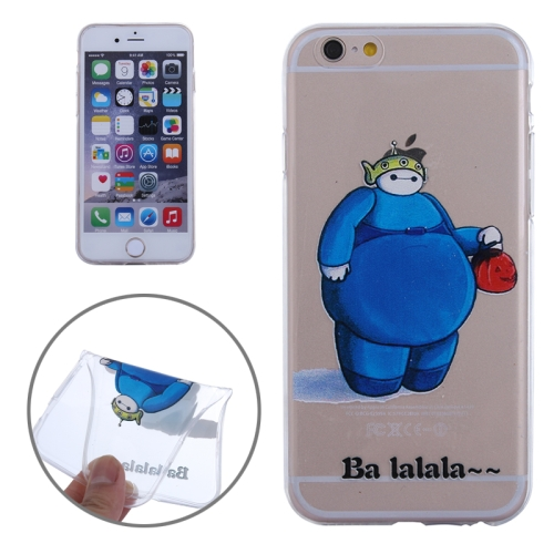 Baymax Ultrathin TPU Protective Phone Case for iPhone 6 (Blue Baymax Pattern)