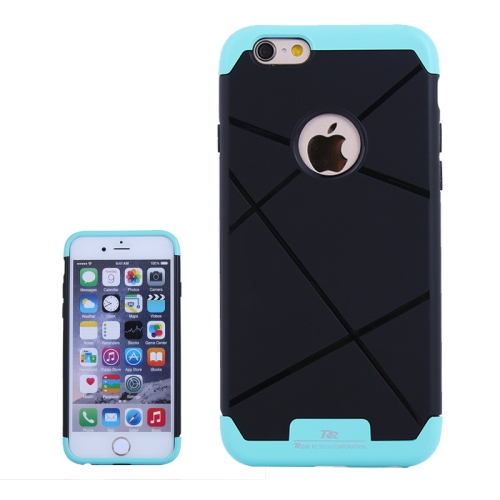 Bicolor Power Bumper Case / Combination Case for iPhone 6 with Card Slot (Blue)