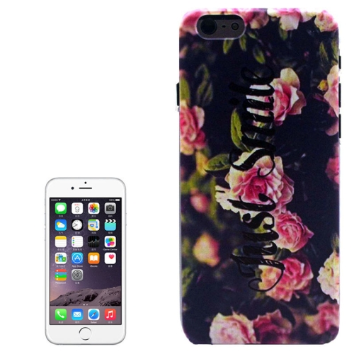 Color Pattern Transparent Frame Colored Drawing PC Case for iPhone 6 (Flowers)
