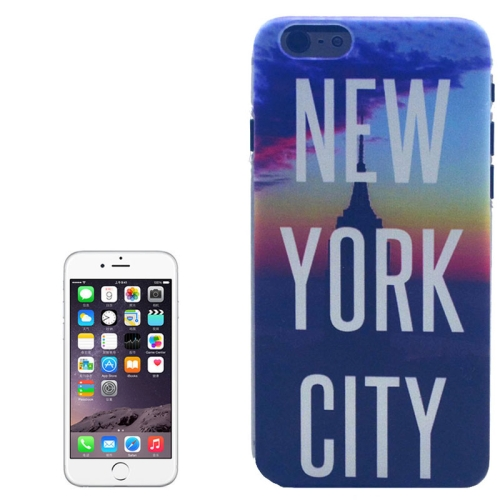 Color Pattern Transparent Frame Colored Drawing PC Case for iPhone 6 (New York City)