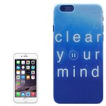 Color Pattern Transparent Frame Colored Drawing PC Case for iPhone 6 (Clear Your Mind)