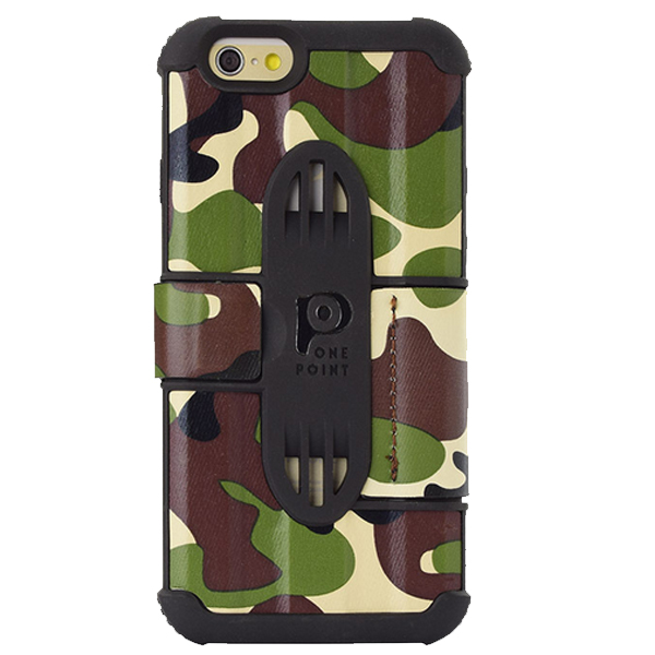 Fashionable Design Camouflage Embossing Leather Case Cover for iPhone 6 (Pattern 11)