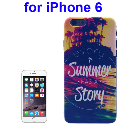 Transparent Frame Colored Drawing PC Case for iPhone 6 (Every Summer Has a Story Pattern)