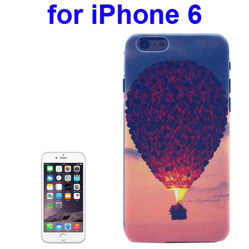 Transparent Frame Colored Drawing PC Case for iPhone 6 (Hot-Air Balloon Pattern)