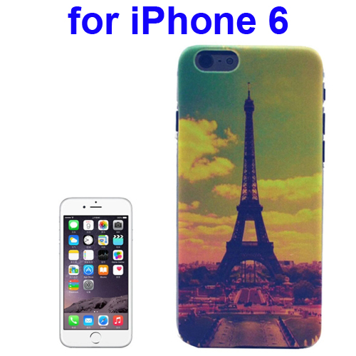 Transparent Frame Colored Drawing PC Case for iPhone 6 (Eiffel Tower Pattern)