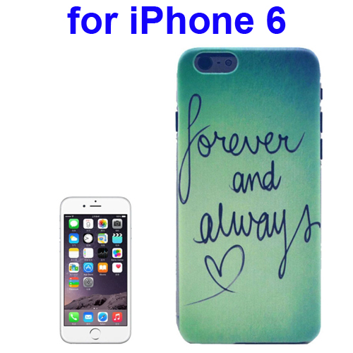 Transparent Frame Colored Drawing PC Case for iPhone 6 (Forever & Always Pattern)