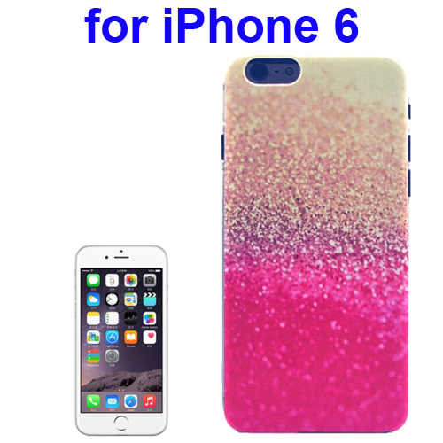 Transparent Frame Colored Drawing PC Case for iPhone 6 (Gold & Pink Glitter Pattern)