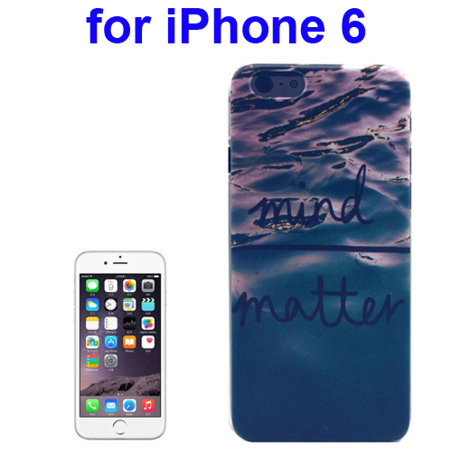 Transparent Frame Colored Drawing PC Case for iPhone 6 (Mind Matter Pattern)