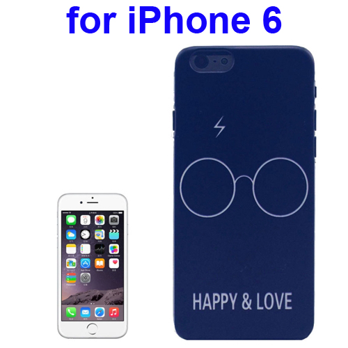 Transparent Frame Colored Drawing PC Case for iPhone 6 (Happy & Love Pattern)