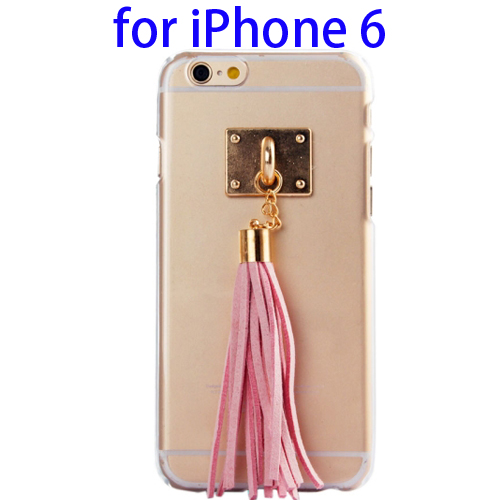 Creative Tassels Ornament Transparent Protective Hard PC Case for iPhone 6 (Pink)