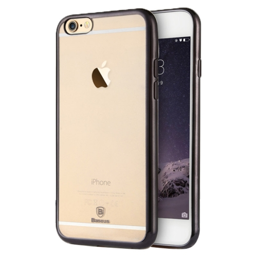 Baseus Shining 1mm Ultra-thin Electroplating Anti-scratch TPU Protective Case for iPhone 6 (Black)