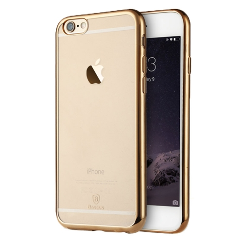 Baseus Shining 1mm Ultra-thin Electroplating Anti-scratch TPU Protective Case for iPhone 6 (Gold)