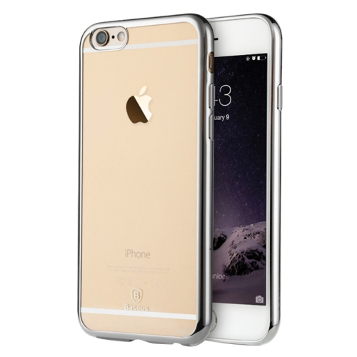 Baseus Shining 1mm Ultra-thin Electroplating Anti-scratch TPU Protective Case for iPhone 6 (Silver)