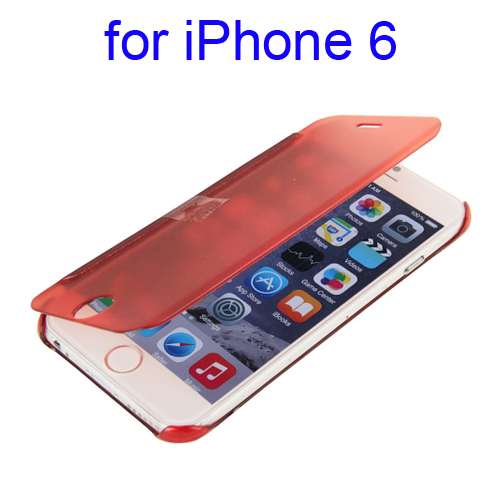 Horizontal Flip Design Protective Hard PC Case for iPhone 6 (Red)
