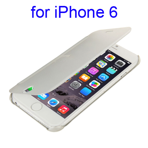 Horizontal Flip Design Protective Hard PC Case for iPhone 6 (White)
