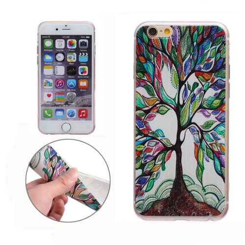 Soft TPU Protective Back Cover for iPhone 6 (Colorful Tree)