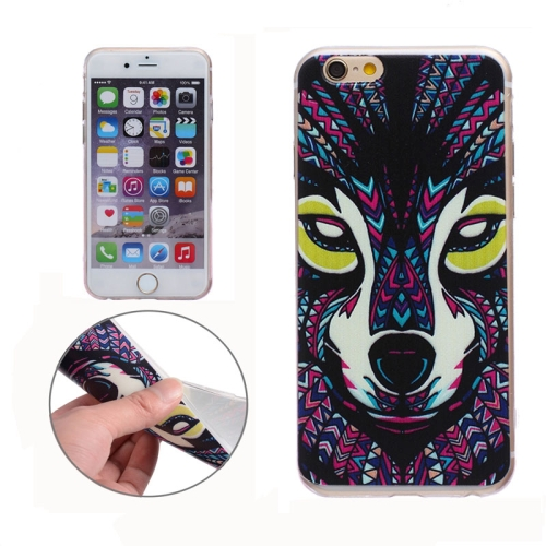 Soft TPU Protective Back Cover for iPhone 6 (Wolf Pattern)