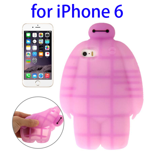 Soft Protective Back Silicone Cover Case for iPhone 6 (Pink)
