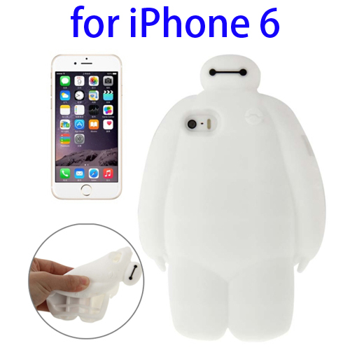 Soft Protective Back Silicone Cover Case for iPhone 6 (White)