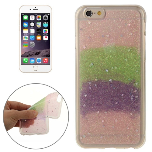 Mix Color Star Pattern Soft Protective TPU Back Cover for iPhone 6 (Color 1)