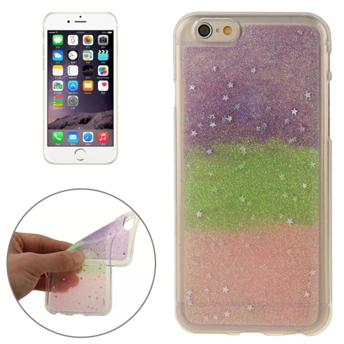 Mix Color Star Pattern Soft Protective TPU Back Cover for iPhone 6 (Color 2)
