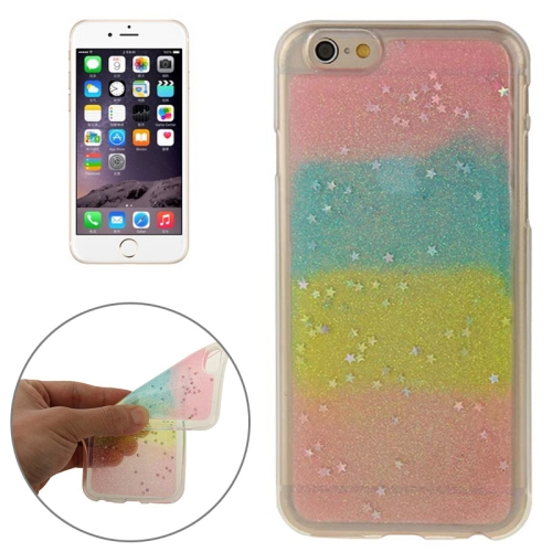 Mix Color Star Pattern Soft Protective TPU Back Cover for iPhone 6 (Color 3)
