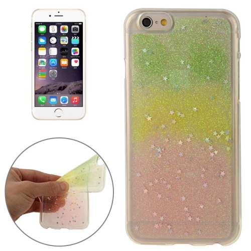 Mix Color Star Pattern Soft Protective TPU Back Cover for iPhone 6 (Color 4)
