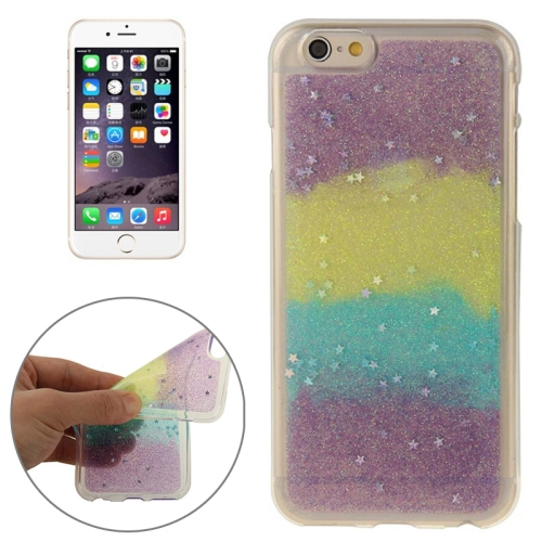 Mix Color Star Pattern Soft Protective TPU Back Cover for iPhone 6 (Color 5)
