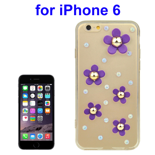 Daisy Diamond Design TPU Protective Back Cover for iPhone 6 (Purple)