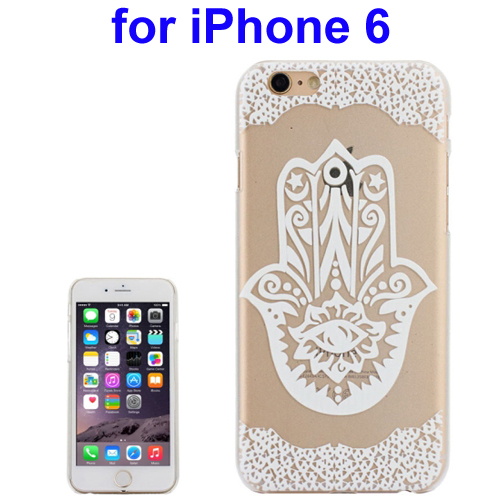Ultra-Thin Carved Flower Pattern Transparent Frame PC Protective Case for iPhone 6 (Pattern 8)