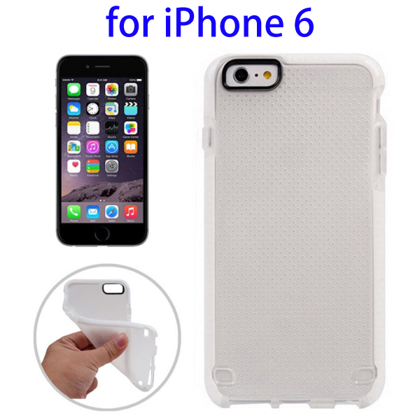 Ultrathin Concise Style Basketball Texture Protective TPU Case for iPhone 6 (White)