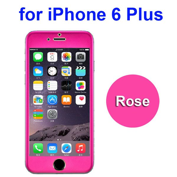 Ti Alloy Tempered Glass Screen Protector for iPhone 6 Plus (Rose)