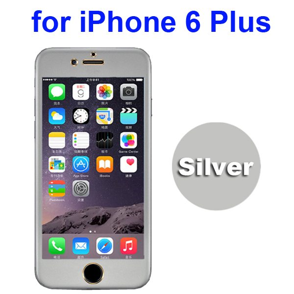 Ti Alloy Tempered Glass Screen Protector for iPhone 6 Plus (Silver)