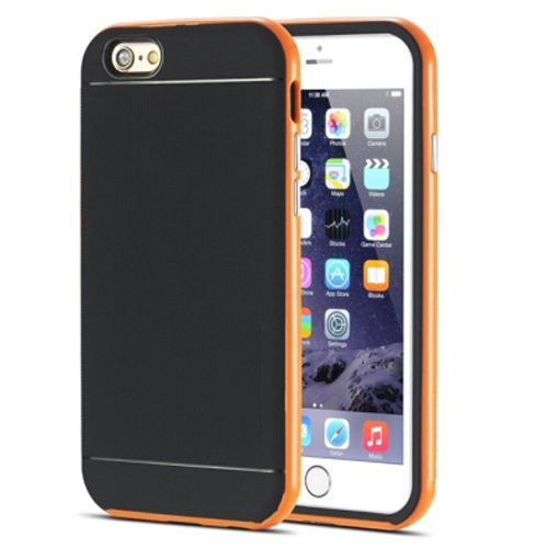 Durable Silm PC Frame and Soft TPU Protective Hybrid Case for iPhone 6 Plus (Orange)