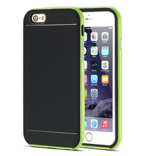 Durable Silm PC Frame and Soft TPU Protective Hybrid Case for iPhone 6 Plus (Green)