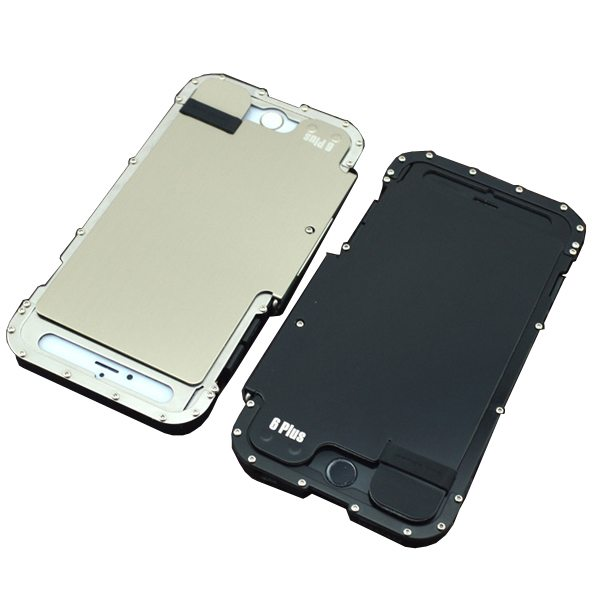 Armor King Stainless Steel Shockproof Hard Case Cover for iPhone 6 Plus (Silver)