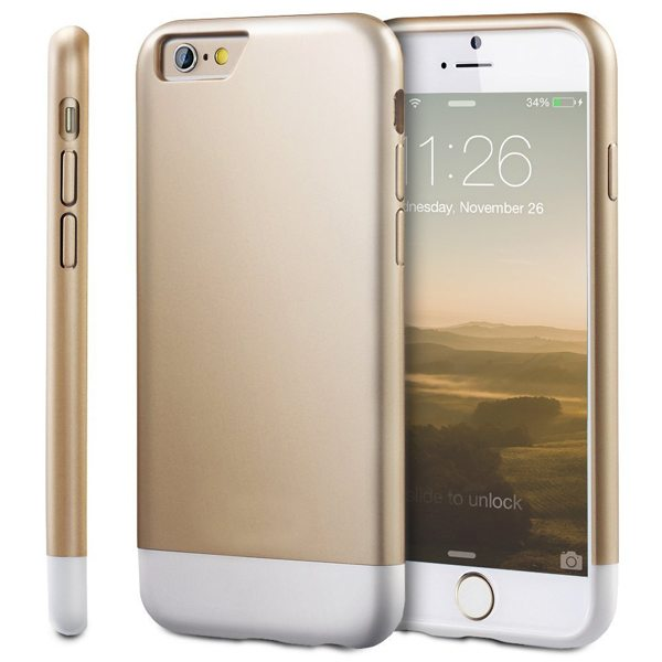 Oil Coated Pattern Detachable Protective Hard Case Cover for iPhone 6 Plus (Golden)