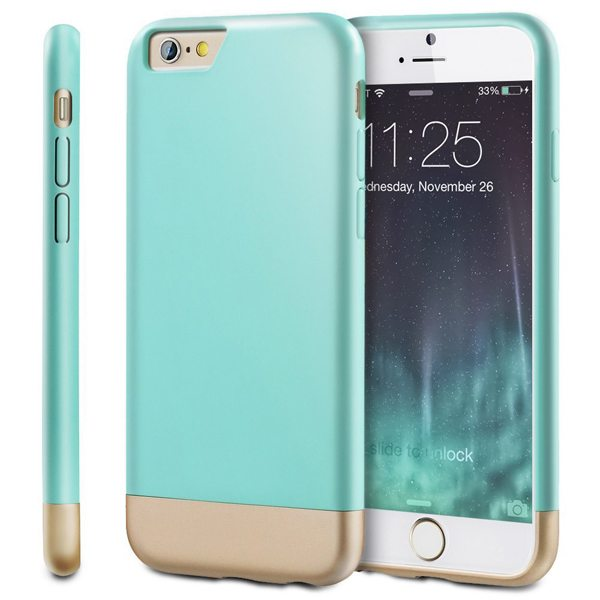 Oil Coated Pattern Detachable Protective Hard Case Cover for iPhone 6 Plus (Green)