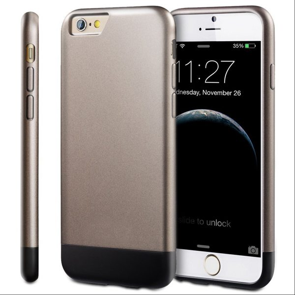 Oil Coated Pattern Detachable Protective Hard Case Cover for iPhone 6 Plus (Silver)