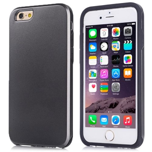 2 in1 Ultrathin Soft TPU and Hard Protective Hybrid Cover for iPhone 6 Plus (Black)