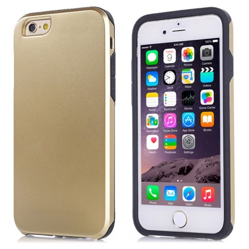 2 in1 Ultrathin Soft TPU and Hard Protective Hybrid Cover for iPhone 6 Plus (Gold)