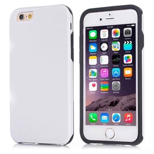 2 in1 Ultrathin Soft TPU and Hard Protective Hybrid Cover for iPhone 6 Plus (White)